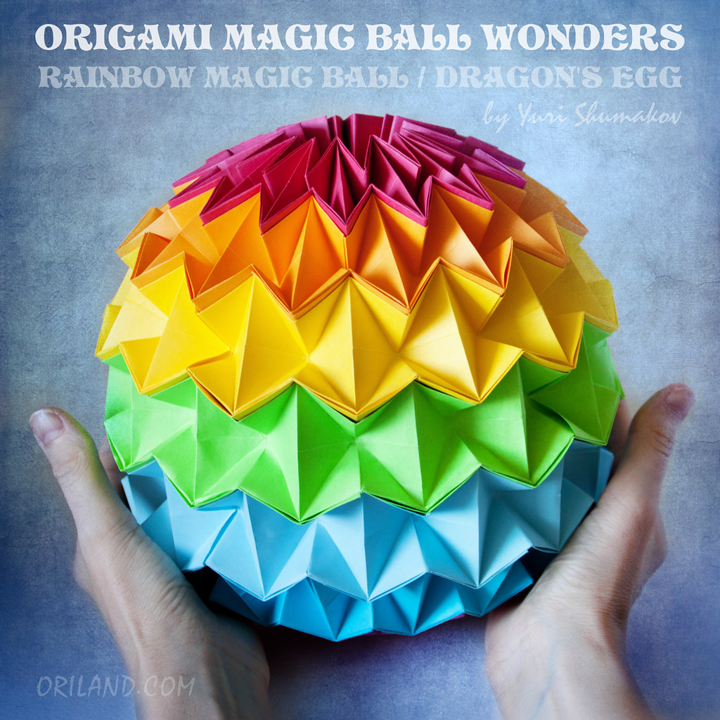 origami magic ball wonders rainbow magic ball dragons