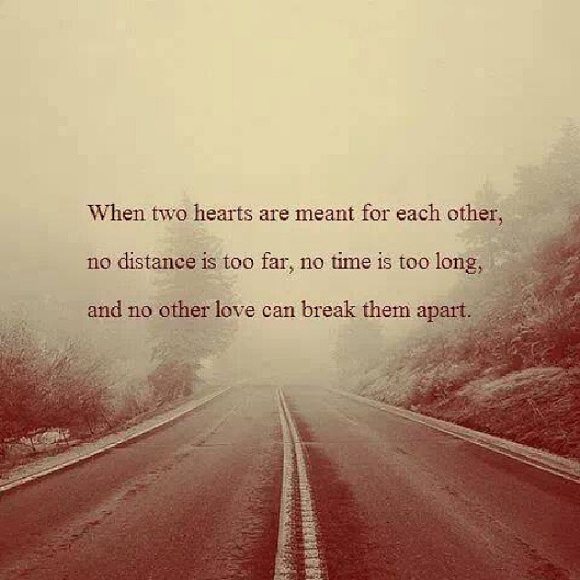 Love Each Other When Two Souls: When Two Hearts Are Meant For Each Other, No Distance Is T