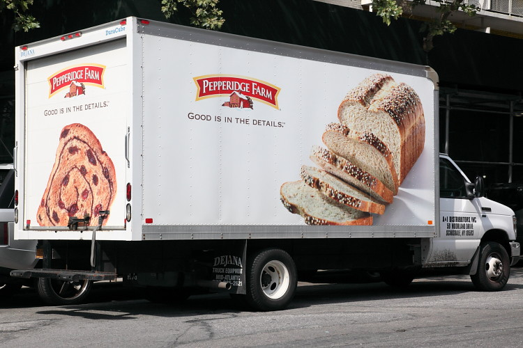 Pepperidge Farm Branded Delivery Truck With Slogan Good Is