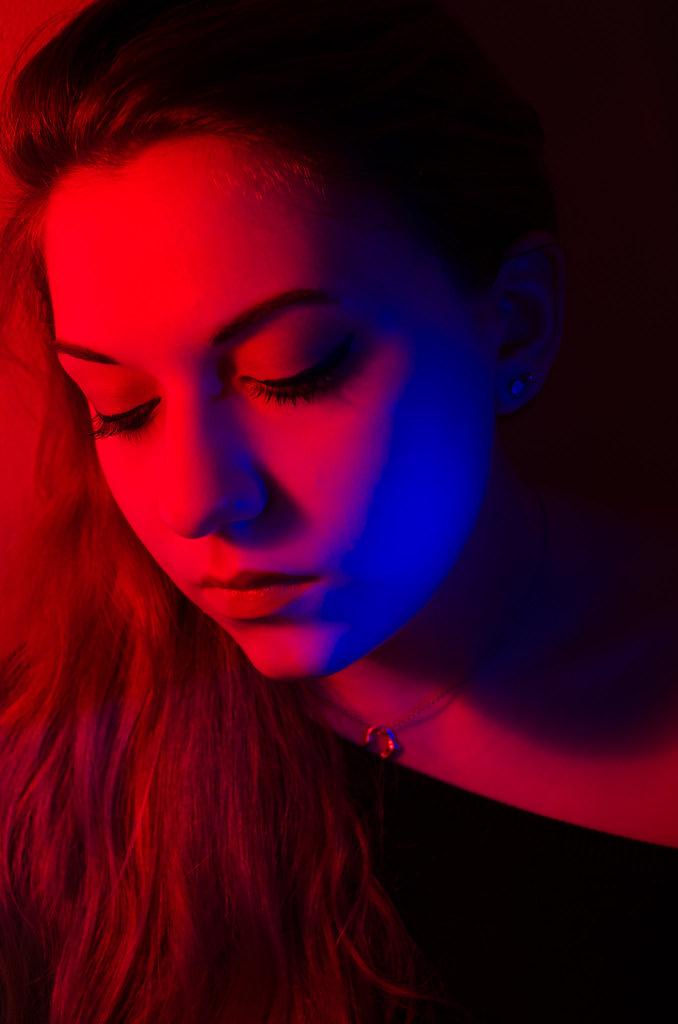 Colour Gel Fashion Studio Photography Male Model