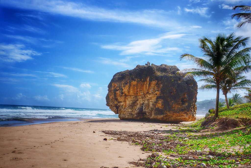 Bathsheba Barbados With A Bench On Top Of The Rock Flickr