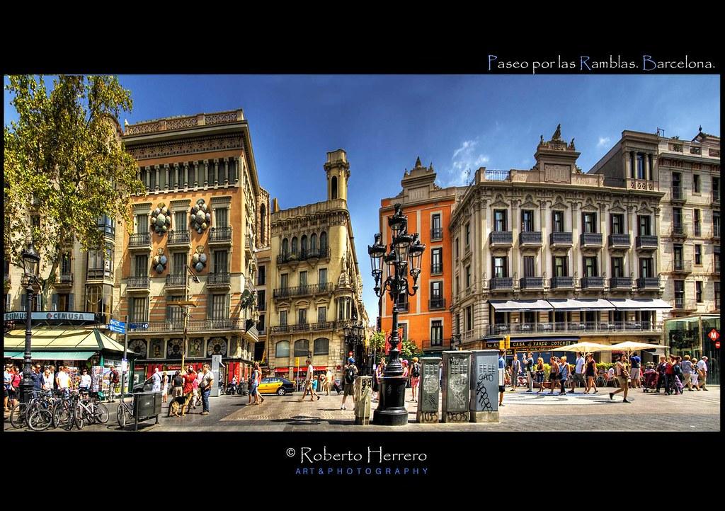Paseo por las ramblas barcelona view awards count - Roberto herrero ...
