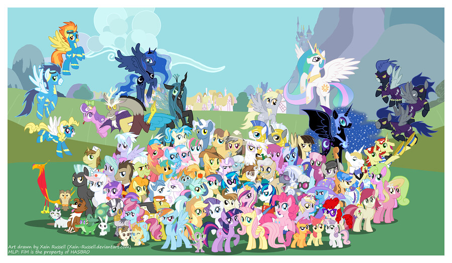 All of the My Little Pony characters 3 Feel free to