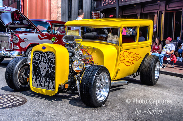 yellow hot rod side view downtown nashville flickr. Black Bedroom Furniture Sets. Home Design Ideas