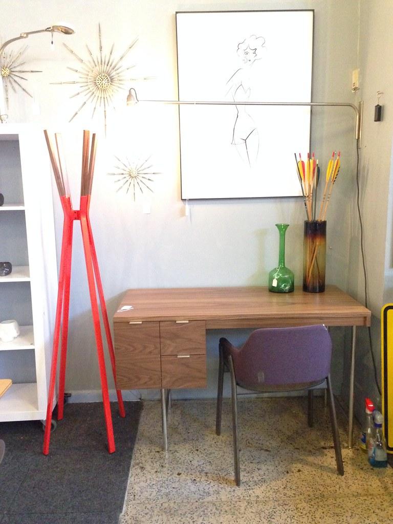 gus modern conrad desk  blu dot splash coat rack  blu do…  flickr -