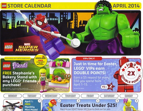 LEGO April 2014 Calendar