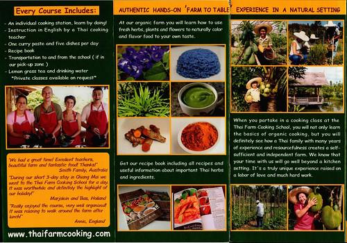 Brochure Thai Farm Cooking School Chiang Mai Thailand 2