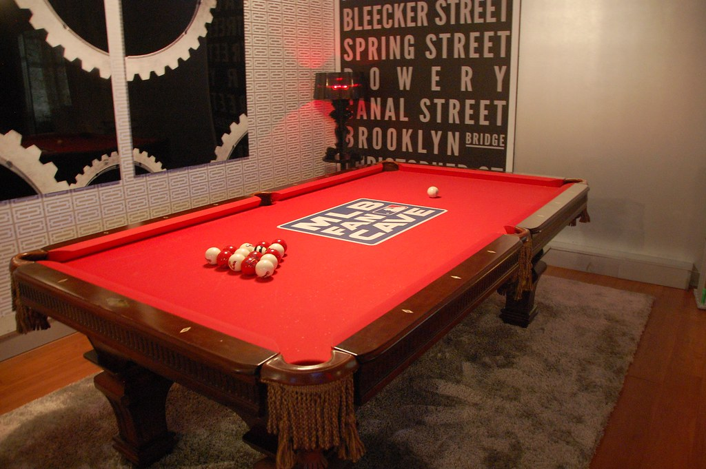 Custom Pool Table 2013 MLB Fan Cave With Custom Balls For