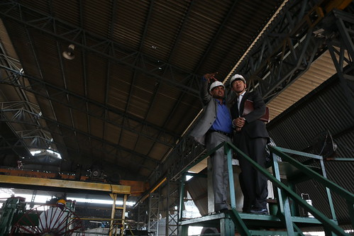 Haoliang Xu Visits the Award-Winning Steel Re-Rolling Mill, MPK Steel in Jaipur | by UNDP in India