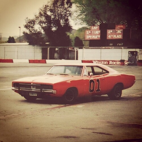 The General Lee at Saugus Speedway used often for the ...