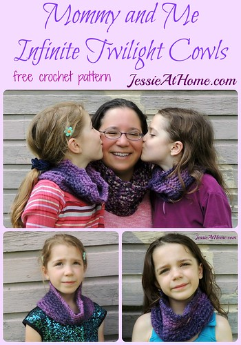 Mommy and Me Infinite Twilight Cowls ~ free crochet pattern by Jessie At Home