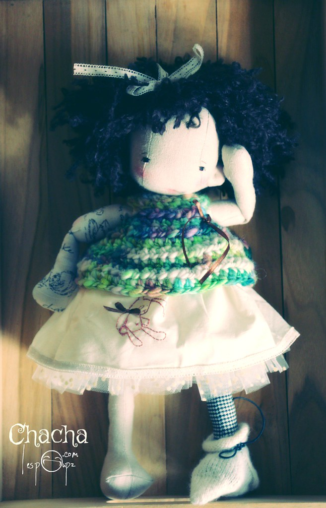 Chacha, Natural Fiber Cloth Doll, by LesPouPZ