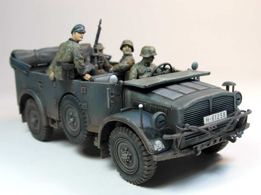 August Jobs Figures >> 70's Memories Project – Tamiya – 1/35 German Horch 4X4 Typ… | Flickr
