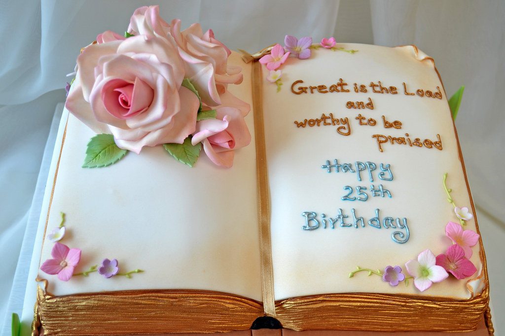 Bible Birthday Cake Pictures