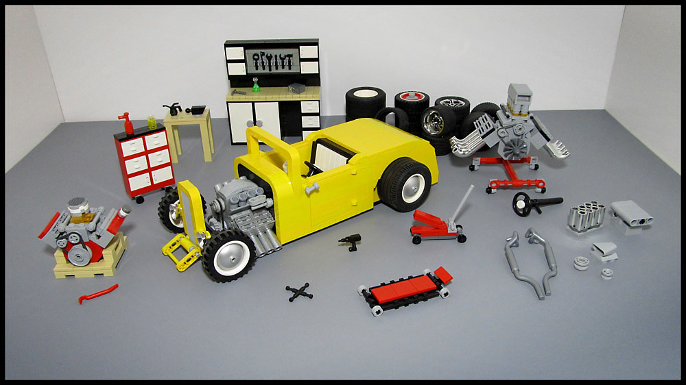 Custom Lego Hot Rod I Built Several Versions Of This
