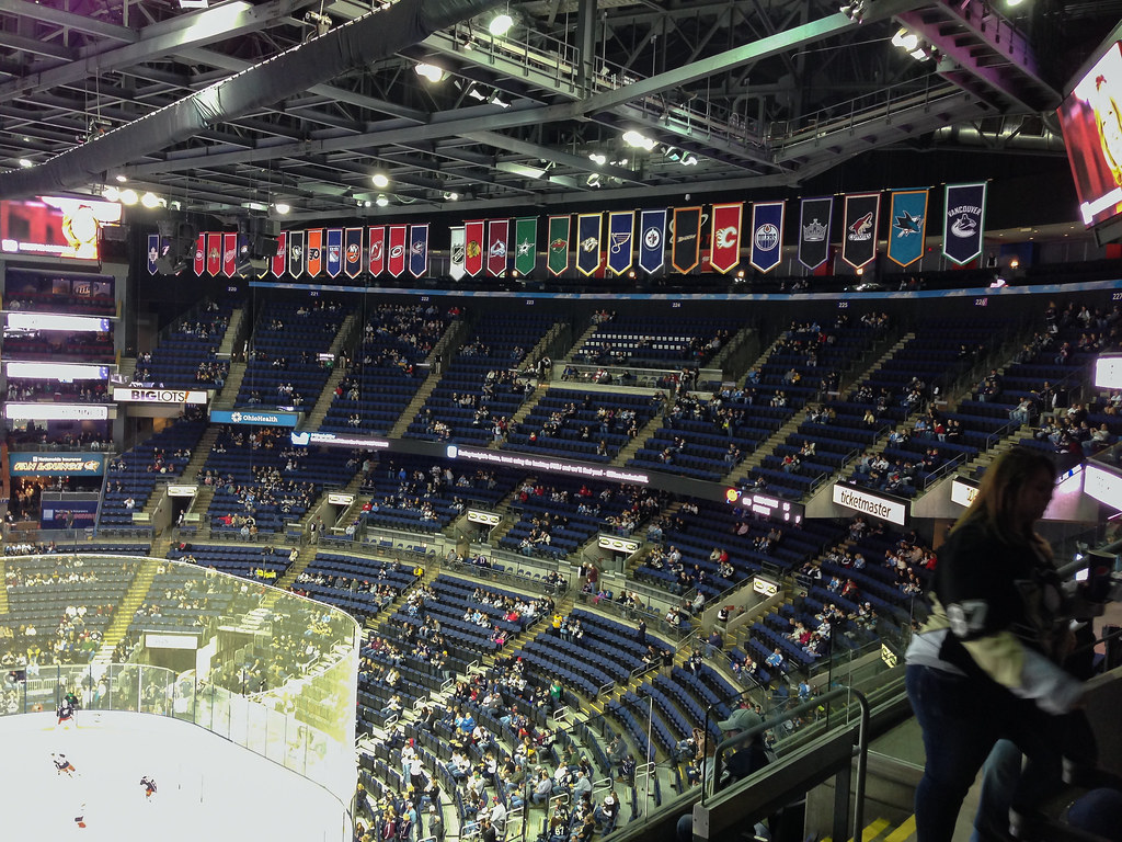 Nationwide Arena Banners Where Most Teams Have Winning