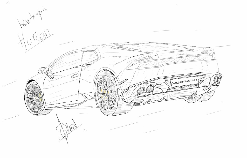 lamborghini huracan how to draw how to draw a sports car. Black Bedroom Furniture Sets. Home Design Ideas