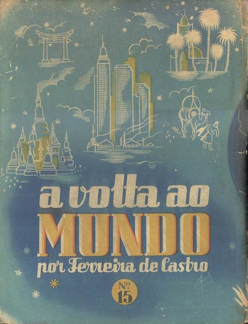 A Volta ao Mundo, Ferreira de Castro, Nº 15, 1944 - contra-capa,