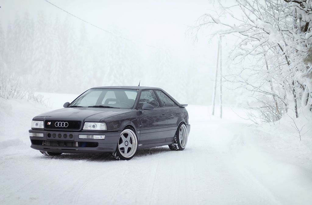 audi s2 coup a beautiful audi s2 in snow conditions this flickr. Black Bedroom Furniture Sets. Home Design Ideas