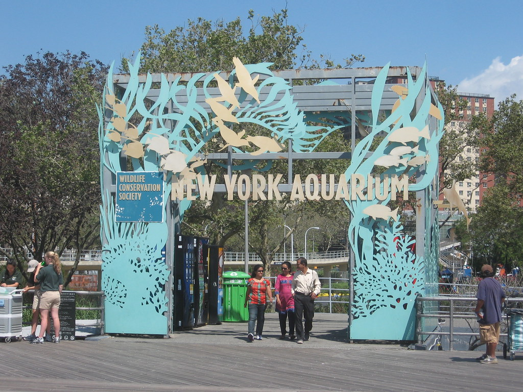 New york aquarium coney island boardwalk new york Aquarium in coney island