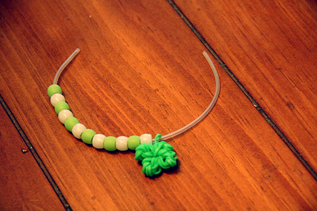 Put-beads-on-one-side-of-clover