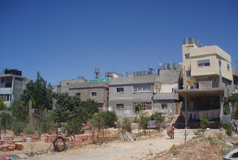 Image of an old refugee camp in the West Bank, something you'll see as a tourist in Palestine