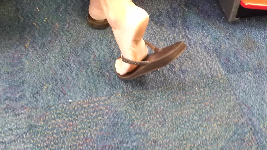 Mature Candid Feet 3  Please Excuse The Quality I Only -1571