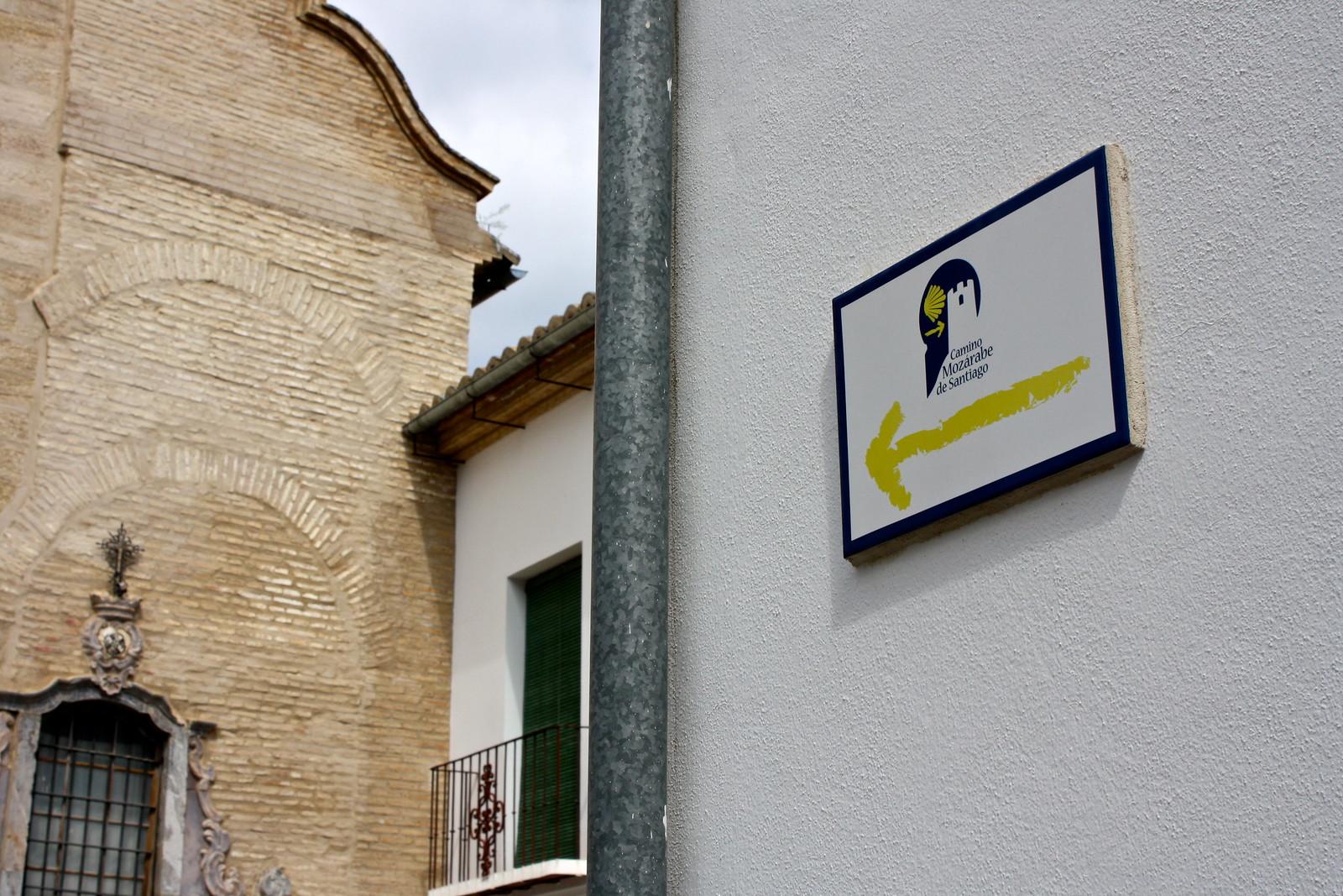 Camino de Santiago in Antequera, Spain