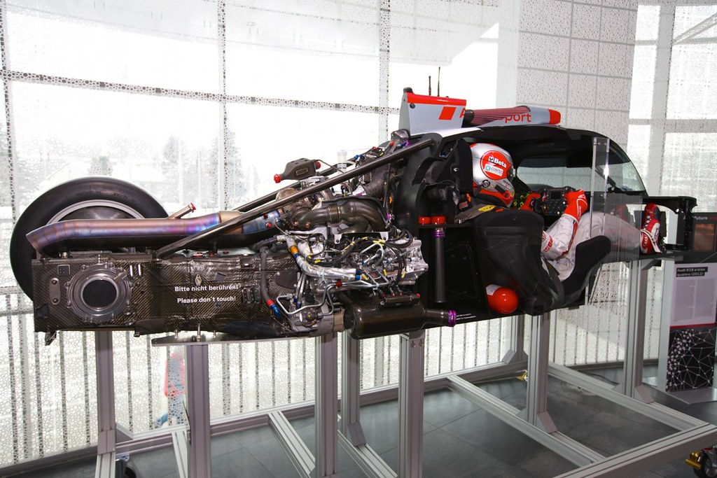 A Cutaway Of The Audi R18 E Tron Quattro Lmp1 Race Car Sho