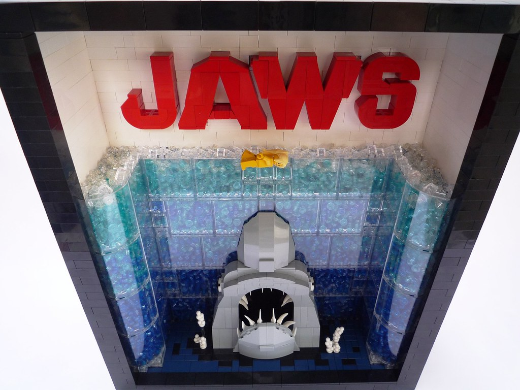 LEGO Jaws Movie Poster | Jaws Movie Poster - Down View Stand… | Flickr