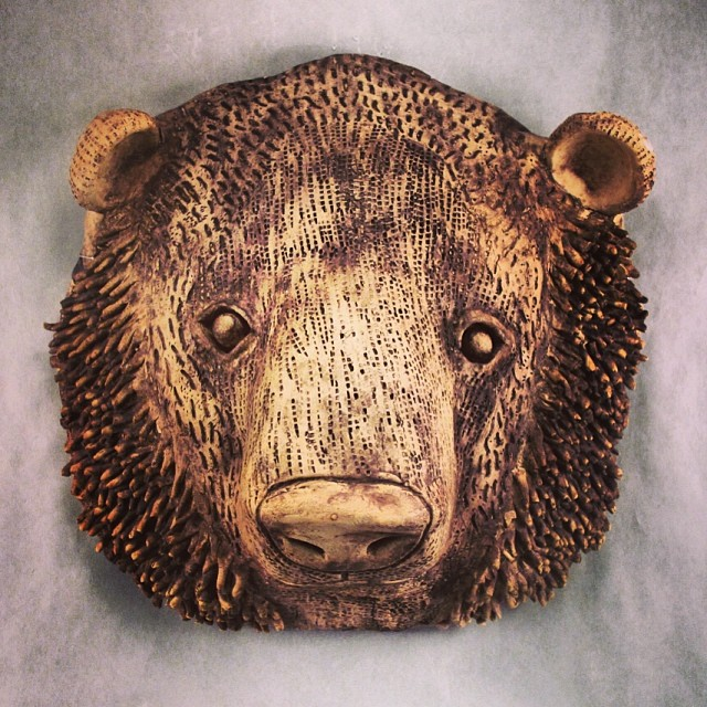 Bear Mask By Callie B Art Sculpture Clay Ceramic Cer