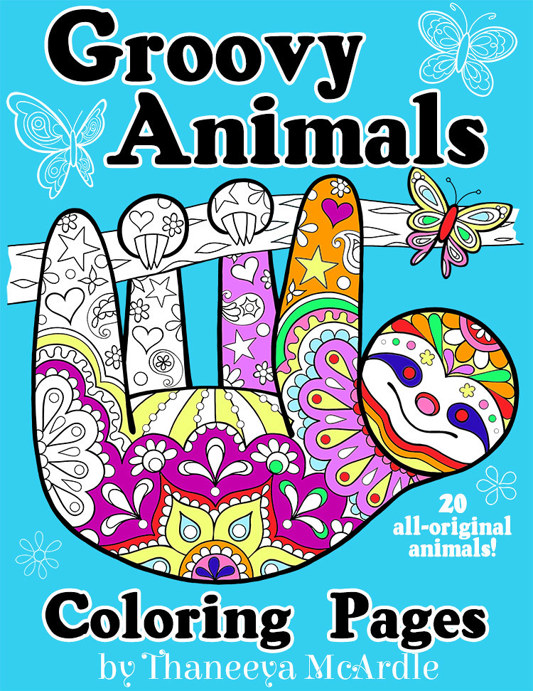 groovy animals coloring pages by thaneeya mcardle this is flickr. Black Bedroom Furniture Sets. Home Design Ideas