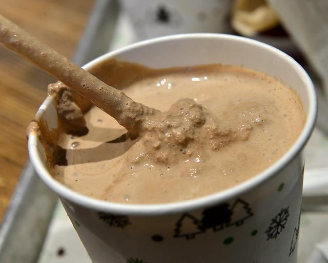 Batido de chocolate del Shake Shack de Nueva York, uno de los mejores que comer en Manhattan