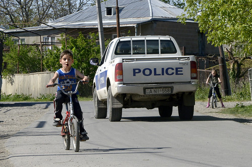 The police patrols the village of Ditsi, 200m from the boundary with South Ossetia | by UNDP in Europe and Central Asia