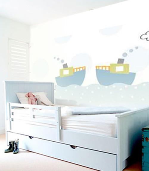 Barcos decoraci n de paredes decoraci n de habitaciones - Paredes habitaciones infantiles ...