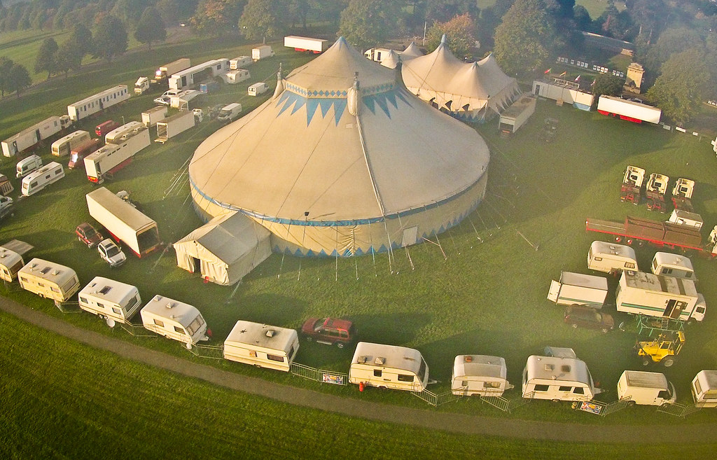 Billy Smart's Circus...on the Downs   kite-borne GoPro ...