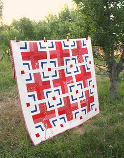 modern-quilt-red-cross | by amy smart