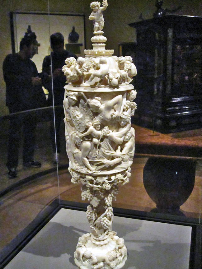 covered goblet with mythological scenes about 1680 balth
