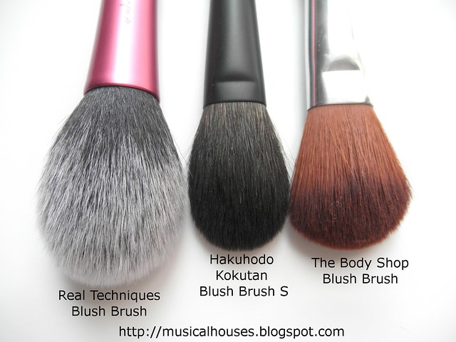 Hakuhodo Real Techniques Body Shop Blush Brush comparisons