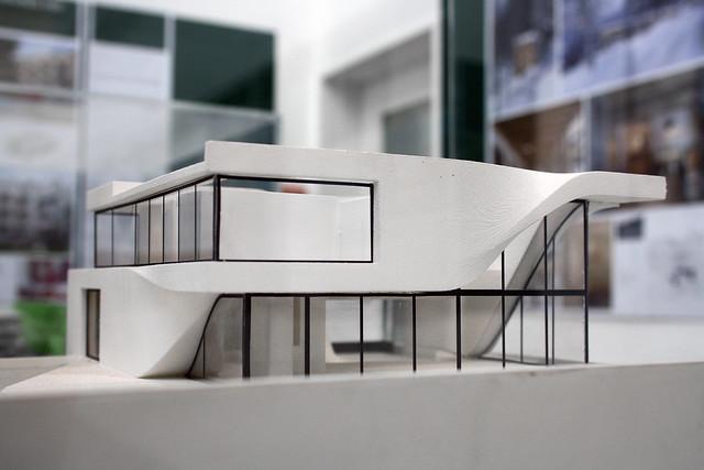Ubicacion Marcador Logo Material De Imagen Creativo: Model Of Haus Am Weinberg, Stuttgart, By UNStudio Ben Van