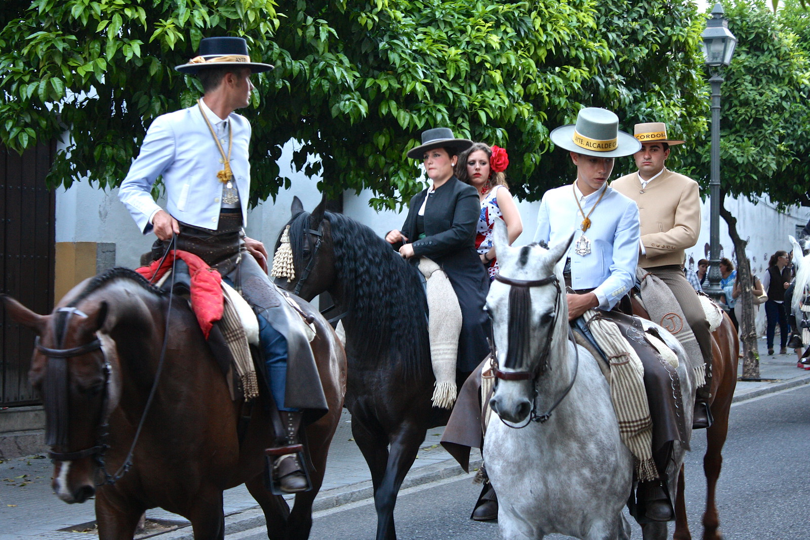 Horse-mounted riders in Córdoba