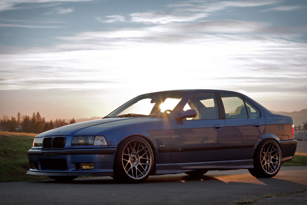 E36 M3 On 18 Quot Arc 8s Estoril Blue E36 M3 On 18x9 5 Quot Et35