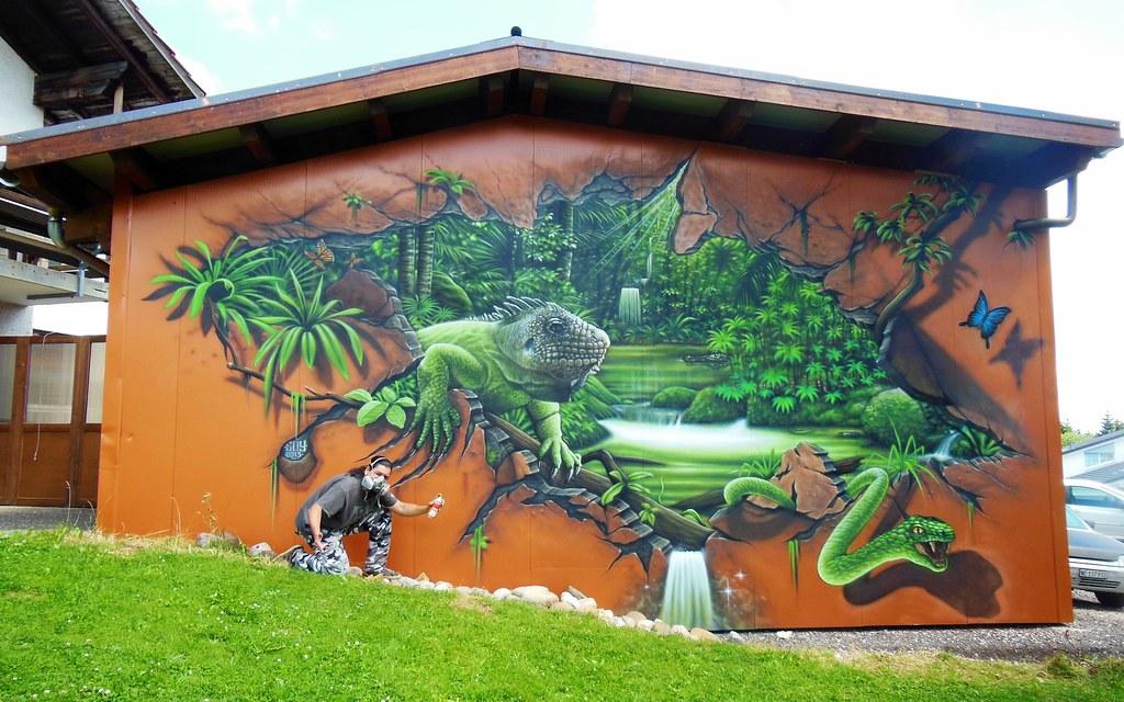 Freestyle Wall In The Garden Graffiti Jura Suisse So