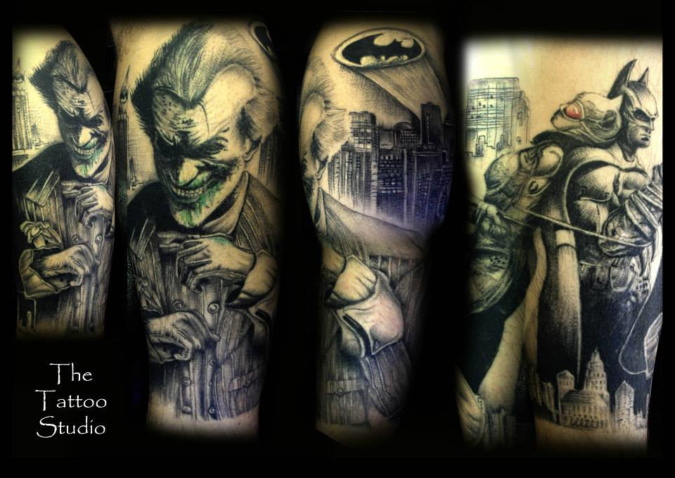 Japanese Batman Tattoo Batman Joker Tattoo Sleeve