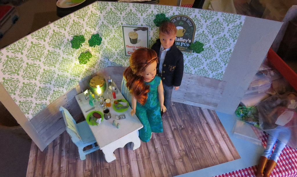 Kitchen Diorama Made Of Cereal Box: The Messy Diorama Area. Cereal Box