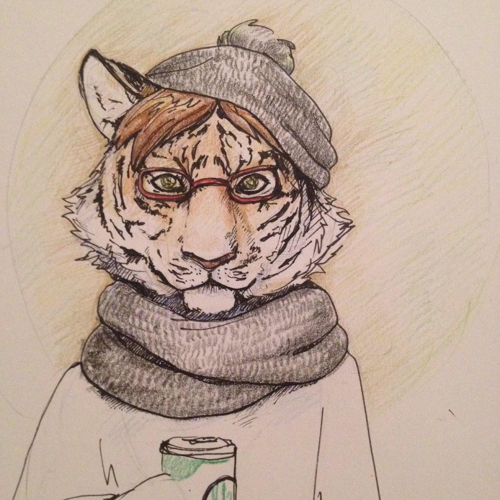 Hipster tiger | Valeria Ilchenko | Flickr