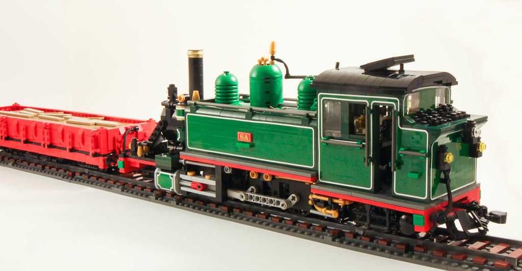 Puffing Billy 6a Lego In Two Tone Green Puffing Billy