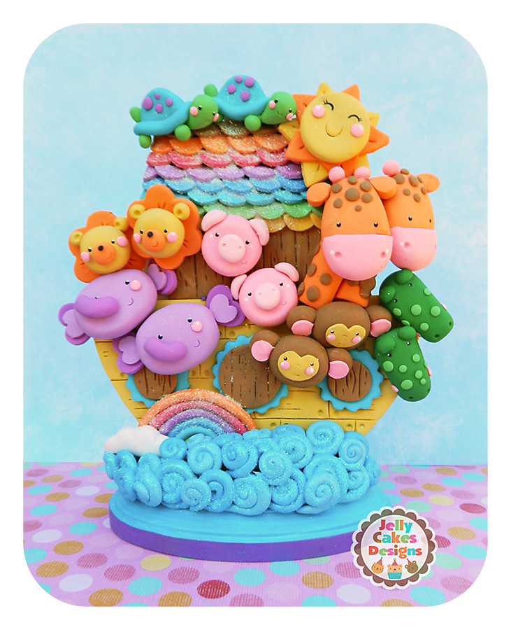 Noah's Ark Keepsake Cake Topper/table Decoration For Baby