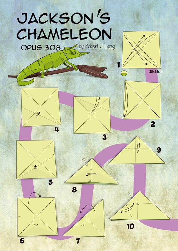 12593336813_5fdee7a9e5_b chameleon by robert j lang full diagram will be in our ne flickr