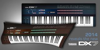 Vector Vintage Yamaha DX7 Keyboard Synthethiser